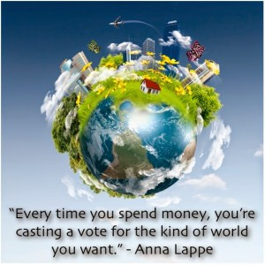 money-anna-lappe-every-time-you-spend-money-youre-casting-a-vote-for-the-kind-of-world-you-want