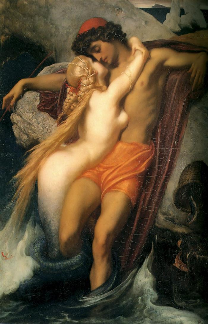 The Fisherman and the Syren by Frederic Leighton (1858)